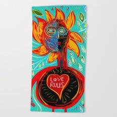 Love Rules Street Art Graffiti Pop Beach Towel
