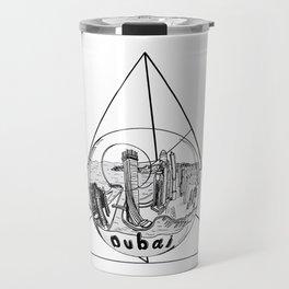 Graphic Geometric Shape Gray Dubai in a Bottle Travel Mug