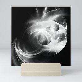 abstract fractals 1x1 reacbw Mini Art Print