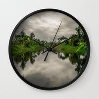 camp Wall Clocks featuring Camp  by Jose Miguel D