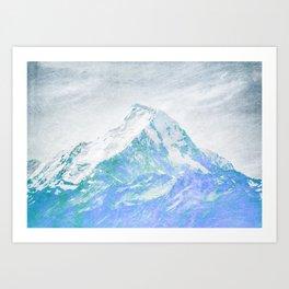 Wild mountainside blue color Art Print