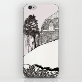 St. Vigeans (black and white) iPhone Skin