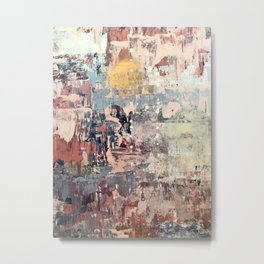 Mirage [1]: a vibrant abstract piece in pinks blues and gold by Alyssa Hamilton Art Metal Print