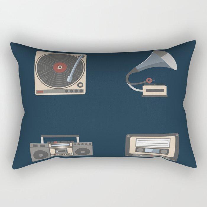 Retro music Rectangular Pillow