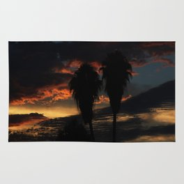 Palms On a Sunset Rug