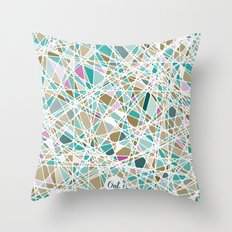 out glass Throw Pillow