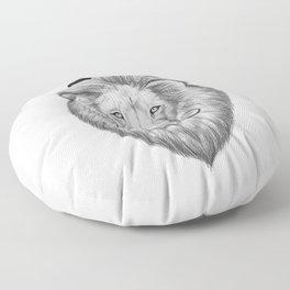 bearded lion Floor Pillow