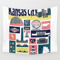 kansas Wall Tapestries featuring Kansas City by cwassmer