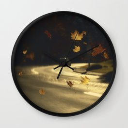 Autumn shower! Take me with you away from a dreadful winter! Wall Clock