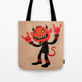 Heavy Metal Devil Tote Bag