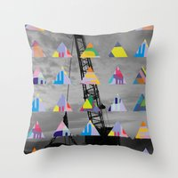 postcard Throw Pillows featuring Postcard by [ g ]