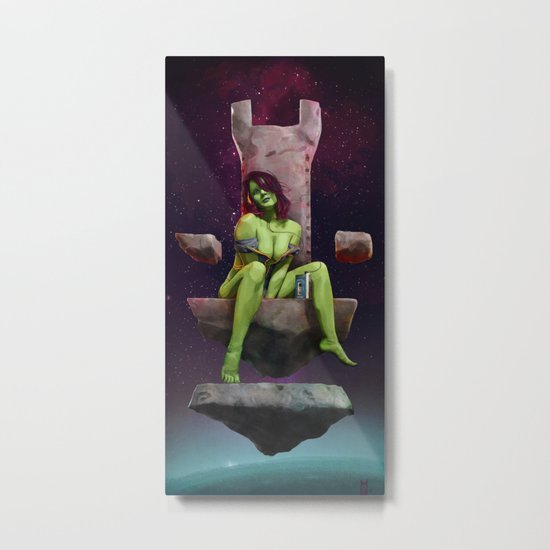 Gamora of Thrones Metal Print