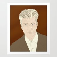 david lynch Art Prints featuring LYNCH by Itxaso Beistegui Illustrations