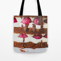 cake Tote Bags featuring Cake by Jovana Rikalo
