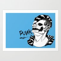 punk rock Art Prints featuring PUNK by Callum Longworth