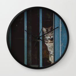 A Cat on the Inside Wall Clock