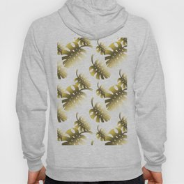 Modern gold color tropical cheese leaves pattern Hoody
