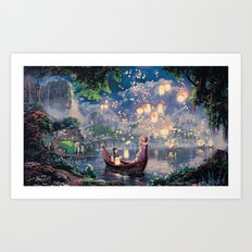 Tangled - When Will My Life Begin Art Print