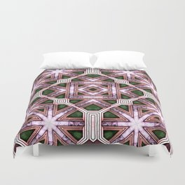 Victorian Art Deco Medieval Pattern colorful SB39 Duvet Cover