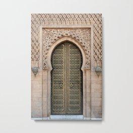 Old Moroccan Door Photography Metal Print