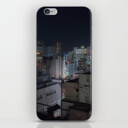 City urban downtown night iPhone Skin
