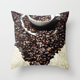 coffee art Throw Pillow