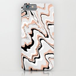 Liquified,marble effect decor iPhone Case