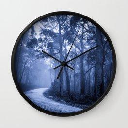 Dark Misty Road Wall Clock