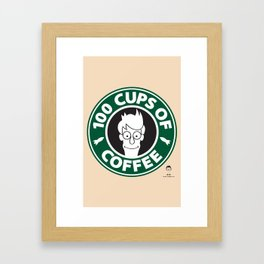 100 Cups of Coffee Framed Art Print