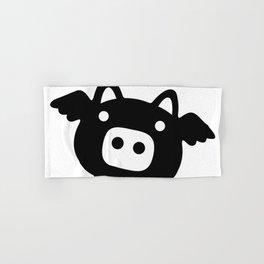Pigs Will Fly (b&w) Hand & Bath Towel