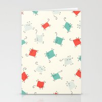 tape Stationery Cards featuring Tape cats by Kitten Rain