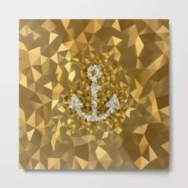 POLYNOID Anchor / Gold Edition Metal Print