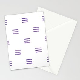 Violet Purple Stripes Pattern White Backgrund Stationery Cards