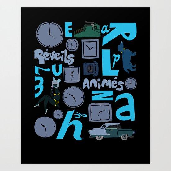 Réveils animés Art Print