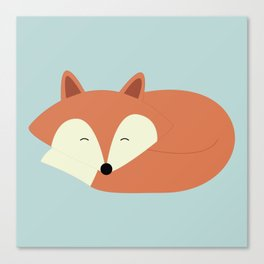 Sleepy Red Fox Canvas Print