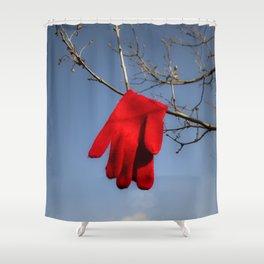 Lost Glove Shower Curtain