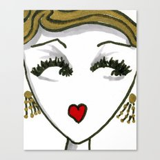 Art Deco Face No. 1 Canvas Print