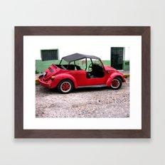 Red VW Framed Art Print