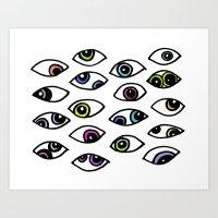 tie-dye eyes Art Print