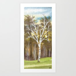 Briars Golf Course, 10th Hole, Nov 12 Art Print