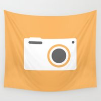 camera Wall Tapestries featuring Camera by DesignNex