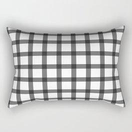 black and white plaid Rectangular Pillow