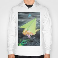planes Hoodies featuring Paper planes by VikaValter