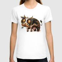 cow T-shirts featuring Cow by Riccardo Pertici