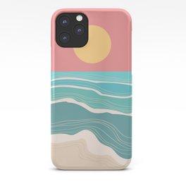 Crashing wave on sunny bay iPhone Case