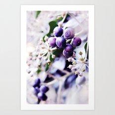 Vanilla Blue Art Print