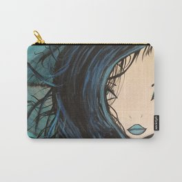 My Mermaid. Original Painting by Jodilynpaintings. Figurative Abstract Pop Art. Carry-All Pouch