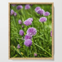 chive flowers Serving Tray