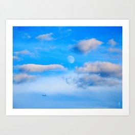 Moonscape photo Art Print