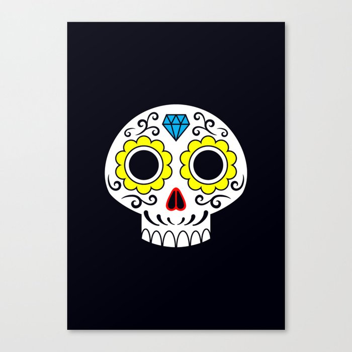 Sugar skull for a cake Canvas Print